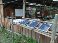 Solar panels that we installed.