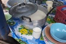 Handpressed soybean milk