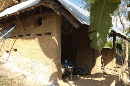 Our mud house was significantly cooler than outside during the day.