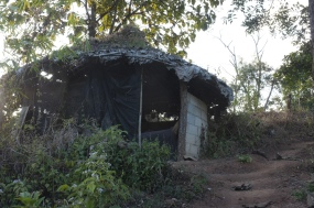The due-for-repair circular hut at the other side of the valley. Luckily it is not rainy season!