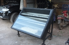 The solar drier used to dry food, seeds, clothes, etc.
