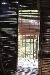 A simple bamboo door.