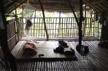 Our simple sleeping arrangement.