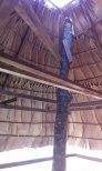 The completed roof from inside.