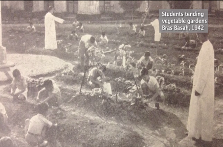 Students tending vegetable gardens. Source: National Archives