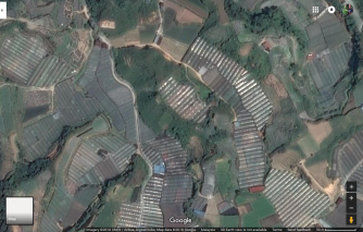 Satellite image of Cameron Highlands.